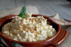 avgosalata Greek Recipes, Potato Salad, Food And Drink, Cooking, Ethnic Recipes, Kitchen Stuff, Dip, Foods, Drinks