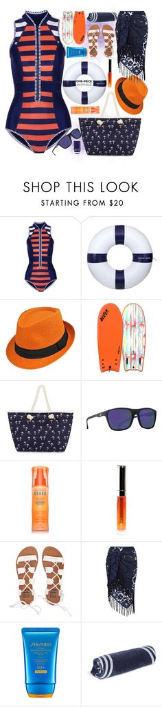 """""""Active at the beach"""" by dorinela-hamamci ❤ liked on Polyvore featuring Duskii, Sunnylife, Catch Surf, Dragon, Alterna, By Terry, Billabong, Monsoon, Shiseido and The Beach People"""