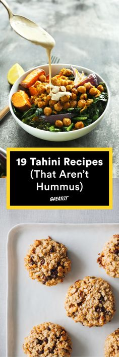 Think Tahini Is Just for Hummus? These 19 Recipes Will Change Your Mind – Gesundes Abendessen, Vegetarische Rezepte, Vegane Desserts, Whole Food Recipes, Vegetarian Recipes, Cooking Recipes, Healthy Recipes, Tofu Recipes, Healthy Appetizers, Healthy Snacks, Hummus, Fromage Cheese