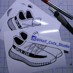 cab14fdc2 Yeezy Decal    Sneaker    Shoes    Vinyl Sticker    Adidas