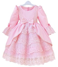 Aliexpress.com da dan deki en kaliteli kız çocuklar prenses elbisesi parti elbise 2 yaş 9 yaş kızlar mor yılbaşı güzel elbise tam kollu