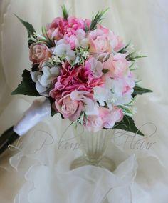 Bride's bouquet wedding bouquet romantic pink by LaPlumeDeFleur