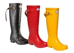 rain boots Hunter. Galocha estilosa.