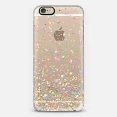 Gold Multicolor Pastel Confetti Transparent iPhone 6 Case by Organic Saturation | Casetify. Get $10 off using code: 53ZPEA