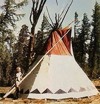 The author learned during six months on a Montana mountaintop that nothing beats living in a tipi. Originally published as
