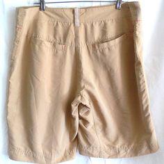 Crocs Men's light Fabric Travel Outdoor Board Beige Shorts Size 36 #Crocs #BoardSurf