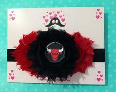 Chicago bulls headband football headband baby by AnisasBowtique, $12.00