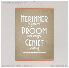Textielposter HERINNER JE