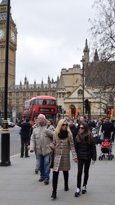 Giorgia Marin and sister photographed while walking in Westminster, London.