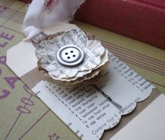 Newspaper flower