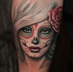 Dia de los muertos . So ready for.both my tattoos to be done!