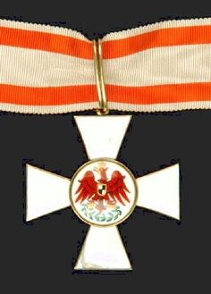 Prussia, Order of the Red Eagle, Civil Division 1855-1918 issue), Second Class neck badge, in silver-gilt and enamels 47 mm, lower limb of cross chipped, very fine