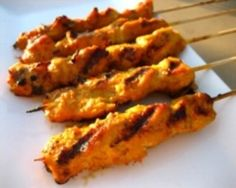 Satay is a delicious Cambodian Food. Learn to cook Cambodian Food Recipes and enjoy Traditional Cambodian Food. Chicken Satay Skewers, Chicken Tenders, Satay Recipe, Chicken On A Stick, Chicken Strips, Cambodian Food, Chicken Tender Recipes, Recipe Chicken, Pineapple Chicken