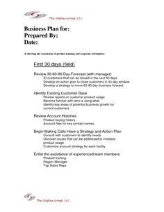 Example of the business plan for 306090 days baby pinterest 1275 x 1650 113 kb png 30 60 90 day sales plan template wajeb Image collections