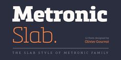 Typeface overview of Metronic Slab Pro