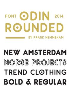 free fonts 2014 Odin Rounded
