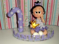 Topo de bolo menina princesa lilas