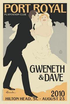 vintage wedding posters <3