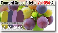 Concord Grape Color Palette by Polymer Clay Tutor