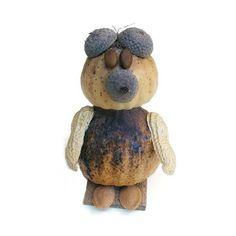 Termésbáb mackó mákgubóból Teddy Bear, Toys, Animals, Activity Toys, Animales, Animaux, Toy, Teddy Bears, Animal Memes