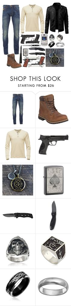 """Untitled #662"" by sammywinchester05 ❤ liked on Polyvore featuring Superdry, Timberland, The North Face, Smith & Wesson, Kershaw, Motorola, Switchblade Stiletto, Vance Co., Meadowlark and Bling Jewelry"