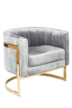 "You can pre-order this popular chair now, it will be mid May 2017. Materials: Stainless steel, velvet Measurements : 30.5""w x 26""d x 28"" h, 40 pounds Seat height: 18"" Color : Gold, gray This chair is"