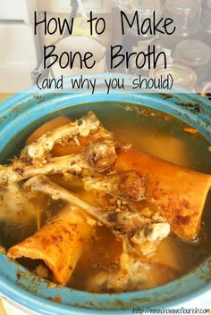 Bone broth is a staple of any healing, real food, or frugal diet. Learn how to make bone broth, as well and how and why to use this wonderful food. Slow Cooker Bone Broth, Bone Broth Soup, Slow Cooker Beef, Slow Cooker Recipes, Bone Marrow Broth, Making Bone Broth, Beef Broth, Rice Cooker, Crockpot Recipes