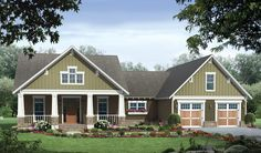 Country House Plan with 1816 Square Feet and 3 Bedrooms from Dream Home Source | House Plan Code DHSW076709