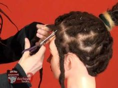 Dread Maintanence! How to Crochet Tighten Human Hair Dreadlocks - DoctoredLocks.com