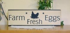 Chicken Wood Signs | You are looking at a shabby chic, primitive country, designed and ...