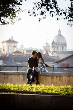 In love in #Rome. #Engagement photography by Andrea Matone.