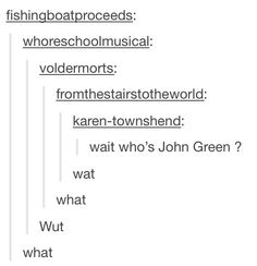 All the Fandoms know john green. All of them. Because the world is just like a giant fandom for john green.