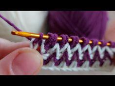 Tunus işi çok kolay örgü battaniye modeli tunisian crochet easy knitting model - YouTube Crochet Stitches Chart, Crochet Basics, Knitting Stitches, Tunisian Crochet, Easy Crochet, Crochet Backpack Pattern, Tapestry Crochet, Crochet Videos, Cross Stitch Flowers