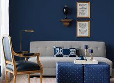 Navy blue living room color scheme living brown and blue living room color schemes design ideas . Navy Living Rooms, Dark Blue Living Room, Blue Living Room Decor, Living Room Color Schemes, Blue Rooms, Living Room Colors, Home Decor Bedroom, Living Room Designs, Blue Bedroom