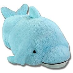 """Pillow Pets Squeaky Dolphin Blue Small 11"""" Plush New ** Check this awesome product by going to the link at the image. (This is an affiliate link) #PlushPillows"""