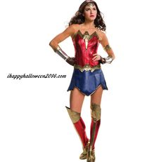 Batman V Superman Wonder Woman Deluxe Women Costume - An exciting outfit from the movie Batman V Superman. Wonder Woman Deluxe Women Costume includes a one piece dress, gauntlets with half gloves, an arm band, and boot covers. Wonder Woman Halloween Costume, White Halloween Costumes, Halloween Fancy Dress, Adult Halloween, White Costumes, Superman Halloween, Halloween Party, Trendy Halloween, Unicorn Halloween