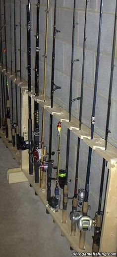 Home made rod rack (pic) - Ohio Game Fishing Community