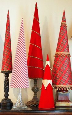 These Elegant Christmas Tree Cones are so stunning, they look like they belong in a magazine! Elegant Christmas Trees, Easy Christmas Decorations, Cone Christmas Trees, Christmas Events, Simple Christmas, Christmas Ornaments, Christmas Ideas, Tabletop Christmas Tree, Christmas Tree Crafts