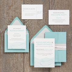 I know you were thinking pink and orange for the #color scheme, but I love this simple (maybe too predictable?) blue #invitation (Paper Source)