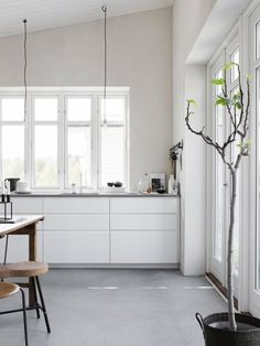 Kitchen in the small house and studio 'Attefallshuset', owned and styled by Pella …