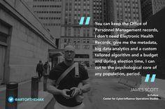James Scott, Senior fellow and Co-Founder, ICIT & CCIOS    #CyberWar #informationwarfare #CyberWarfare #CCIOS #ICIT #JamesScott #Cyberculture #cyberart #digitalar #leadership #life #motivation #cybersecurity #infosec #security #success #wisdom