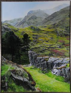 'Mountains at Ogwen', Snowdonia by Harry Robertson