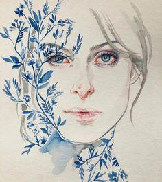 @gabriel.montm Agnes Cecile, Watercolor Portraits, Paper Crafts, Painting, Ink, Artist Art, Instagram, Drawings, Gabriel