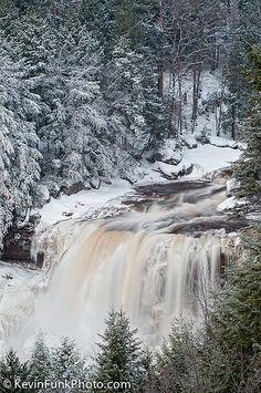 Blackwater Falls, WV in the winter