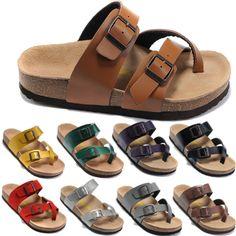 Free Shipping Fashion Birkenstock Mens Sandals Flip Flops Summer Beach, Platform Genuine Leather Home Slippers 100% High Quality US $43.99