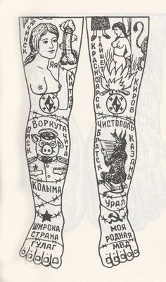 Sketch of Russian tattoos