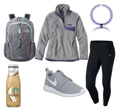 """""""Chilly School Dayz"""" by abbybernard02 ❤ liked on Polyvore featuring Patagonia, NIKE and The North Face"""