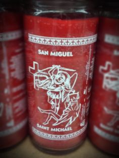 Saint Michael 14 Day Candle - Candela de San Miguel 14 Dias #saintmichael #candleprayers #candlemagic #healing #hoodoo #voodoo #witchcraft Saint Michael, Candle Spells, Voodoo, Energy Drinks, Red Bull, Witchcraft, Saints, Beverages, Healing
