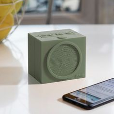 Waterproof Speaker 'Tykho'    The rechargeable Bluetooth Tykho speaker is made out of silicone which makes it easy - and safe - to listen to your favourite music in the bathroom or kitchen, without harming the speaker.