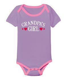 Lavender 'Grandpa's Girl' Bodysuit - Infant | Daily deals for moms, babies and kids